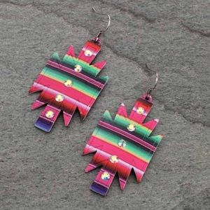 Jewelry - Western Aztec Casting Fish Hook Earrings